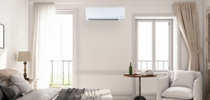Mini Split Ac Unit On Bedroom Wall